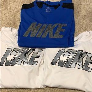 3 pack Dry fit Nike boys long sleeve shirts